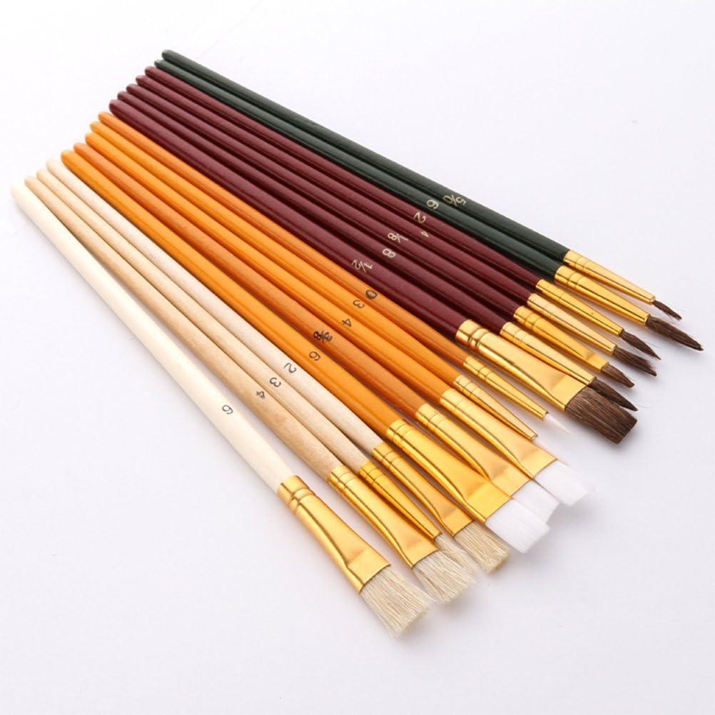 Supvox Set di pennelli da pittura Kit di pittura per pittura ad olio acrilico 25Pcs