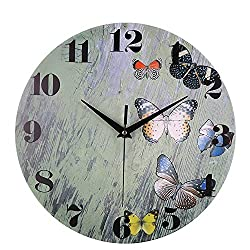 Hope House Office Moden Simple Clock, Silent Sweep Modern Elegant Creative Alarm Bell Home Decoration Gift,Different Pattern,Young Colorful