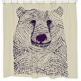 Urban Outfitters Curtains Kids bathroom shower curtain cute bear illustation urban outfitters be wild