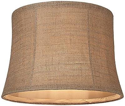 Natural Burlap Medium Drum Lamp Shade 12x14x10 (Spider)