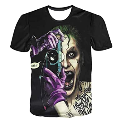 e2451ccf0011 Amazon.com: The Joker Suicide Squad 3D Shirt Top Tee Short Sleeve Men T  Shirt 8 Designs: Clothing