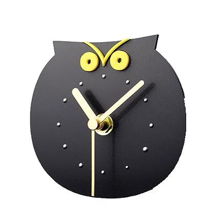 Hxfbyqrjh Reloj De Pared Pegatinas De Nevera Pegajosa Campana - Imitación De Madera Lindo Búho Puntos