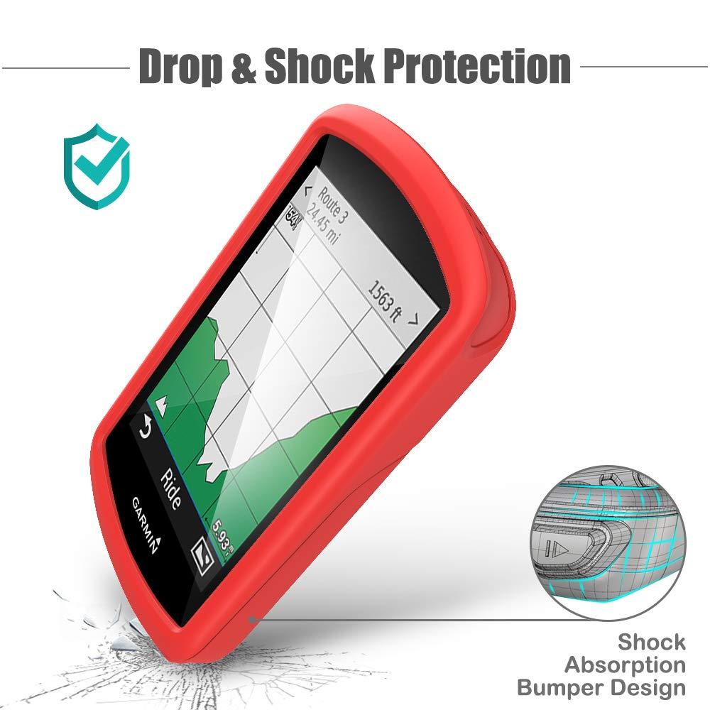 Protectora de Silicona Skin TUSITA Funda para Garmin Edge 1030 Accesorios para computadora con GPS