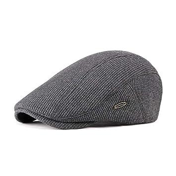 Qlans Hombre Gorras Planas Retro Duckbill Hat Gatsby Newsboy Hat ...