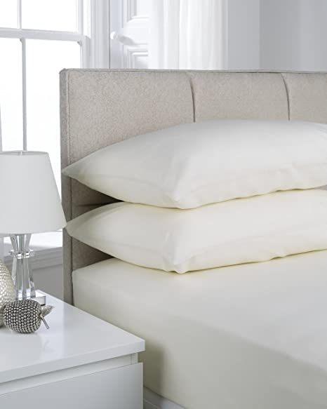 ShawsDirect 4ft, 3/4, Small Double Bed, Fitted Sheet (Ivory)