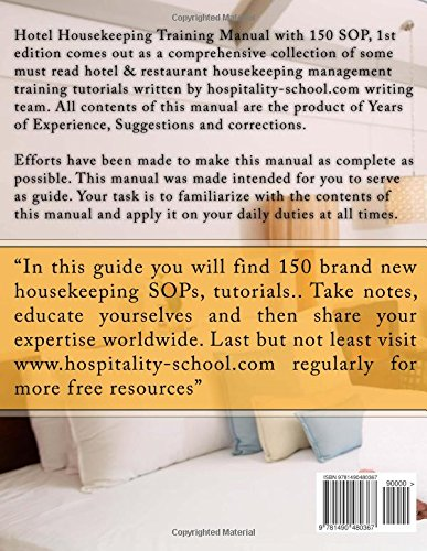hotel housekeeping training manual with 150 sop a must read guide rh amazon com hotel housekeeping training manual hotel housekeeping training manual with 150 sop pdf
