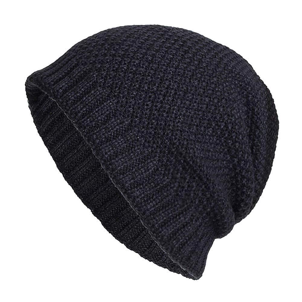Fashion Men Plain Knitted Crochet Baggy Weave Ski Beanie Hat Unisex Baseball Cap