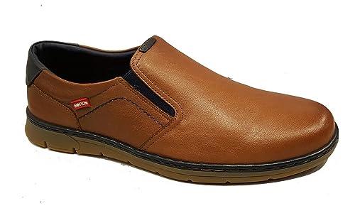 NOTTON - Zapatos sin Cordones Ultra Cómodos para Hombre - 176 - Marrón (44) ecf5abd8590