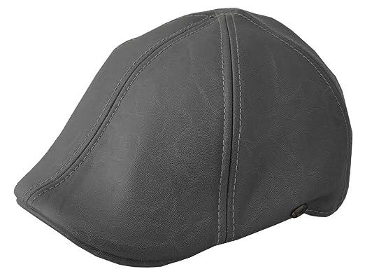 Epoch Men s Leather Feel IVY newsboy duckbill Cap Hat Gray at Amazon ... ec4aff7198a