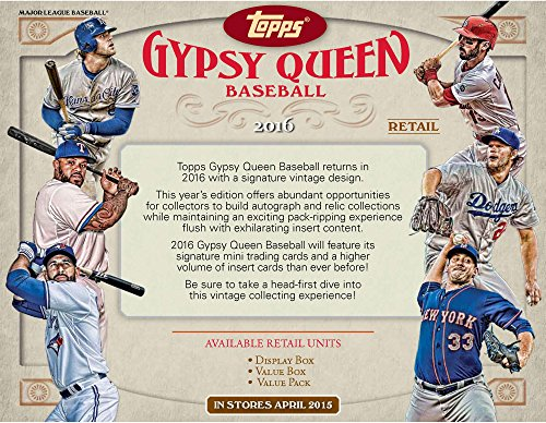 2016 Topps Gypsy Queen Baseball Factory Sealed 24 Pack Box - Fanatics Authentic Certified - Baseball Wax Packs by...