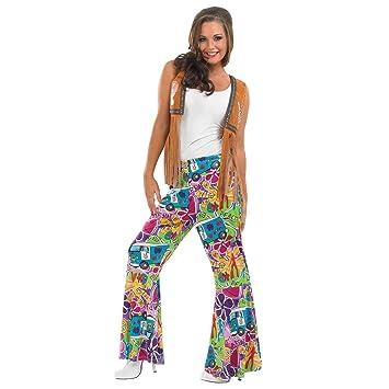 Fun Shack Azul Pantalones Hippie Disfraz para Mujeres - M: Amazon ...