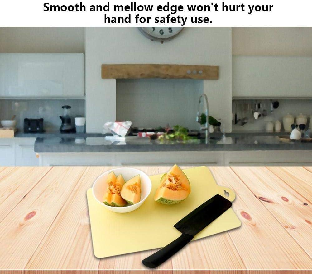 Ultradünne Flexible Kunststoff Küche Schneidebrett Gemüse Obst