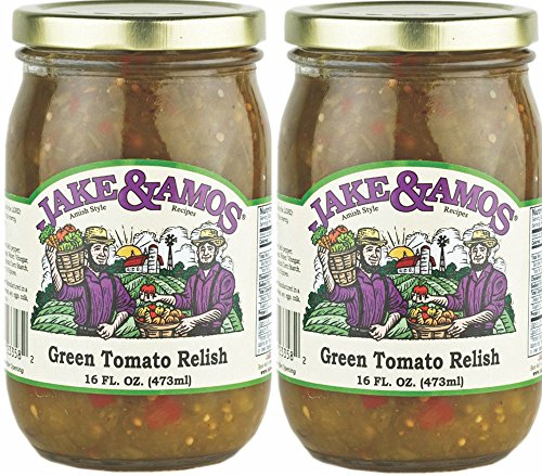 Jake & Amos Green Tomato Relish / 2 - 16 Oz. Jars - Hot Green Tomato