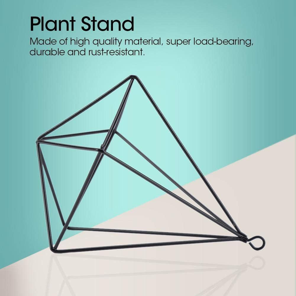 Nero Jeffergarden Plant Holder Hanging Planter Freestanding Hanging Geometric Plant Stand Flowerpot Decorazione da Giardino con Pendente a Catena