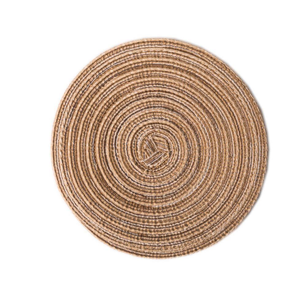 Round 18cm Salvamanteles Redondos de algod/ón con Aislamiento t/érmico para decoraci/ón de Mesa de Comedor Beige longyitrade