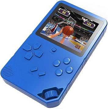 Amazon.es: Bornkid 16 bits Consola de Juegos de Mano para Niños y Adultos con 220 Clásico Interesante Videojuegos 3.0 Pantalla Grande USB Recargable Seniors Electrónicos Juego (Azul)