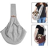 Pet Sling Carrier, TopDirect Dog Sling Bag Shoulder Carry Bag Double-sided Pouch Single Shoulder Bag Dog Travel Carrier Bag, Grey