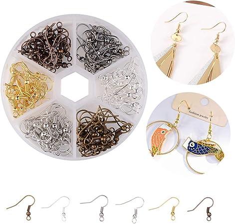 Haken versilbert Hebel aus Kupfer Toab 200 St/ück Franz/ösische Schnur zur Herstellung von Schmuck Zubeh/ör vergoldet Ohrringe