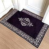 LIUXINDA-DT Modern household carpet, absorbent carpet, antiskid carpet, doorway carpet, lobby carpet, living room carpet,5080CM (19.631.4) in,black