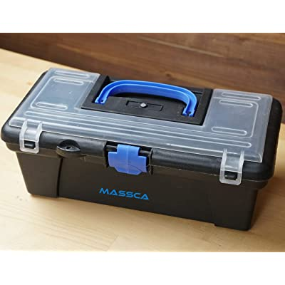 Massca Tool Box Storage. Made of Durable Plastic in a Slim Design with 5 Top compartments & 1 Large Bottom Compartment. Excellent for Screws Nuts and Bolts.: Home & Kitchen