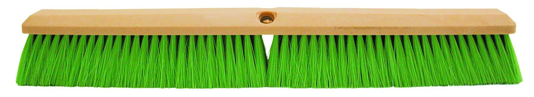 Magnolia Brush 3318-N Foam Plastic Block Vehicle Wash Brush, Flagged Nylon Bristles, 2-1/2'' Trim, 18'' Length, Green (Case of 12)