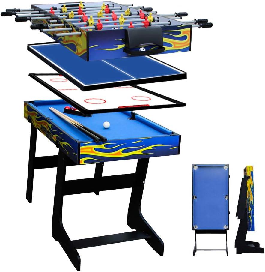 aipinqi table de jeu multifonction 4 en 1 table de billard table de football table de hockey table de tennis de table