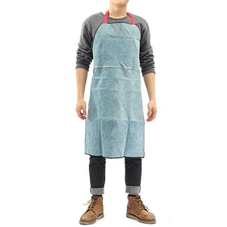 Leather Welding Apron Equipment Welder Heat Insulation Protection Apron  UK