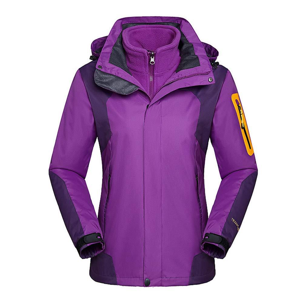 AiNaMei Damen Outdoorjacken warm Plus samtige Skianzüge für Bergsteiger