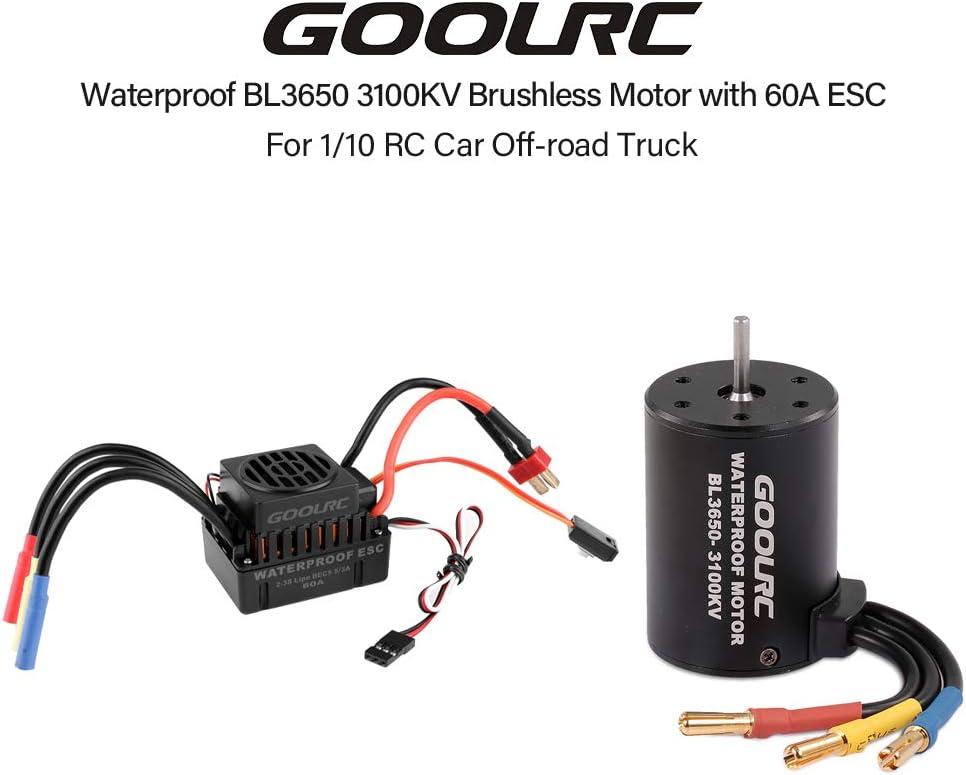 1:10 Car Bl3650 3900Kv Brushless Motor 80A Waterproof Brushless Esc For 1// T6H3