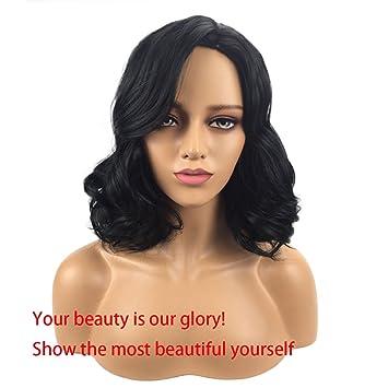 HYISHION Pelucas Afro De Pelo Corto Rizado con Pelucas De Pelo Afro Rizado Cabello para Mujeres