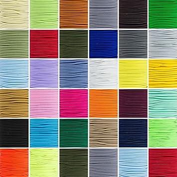 5 10 25 50 m Gummikordel Hutgummi Gummilitze elastisch viele Farben Durchmesser