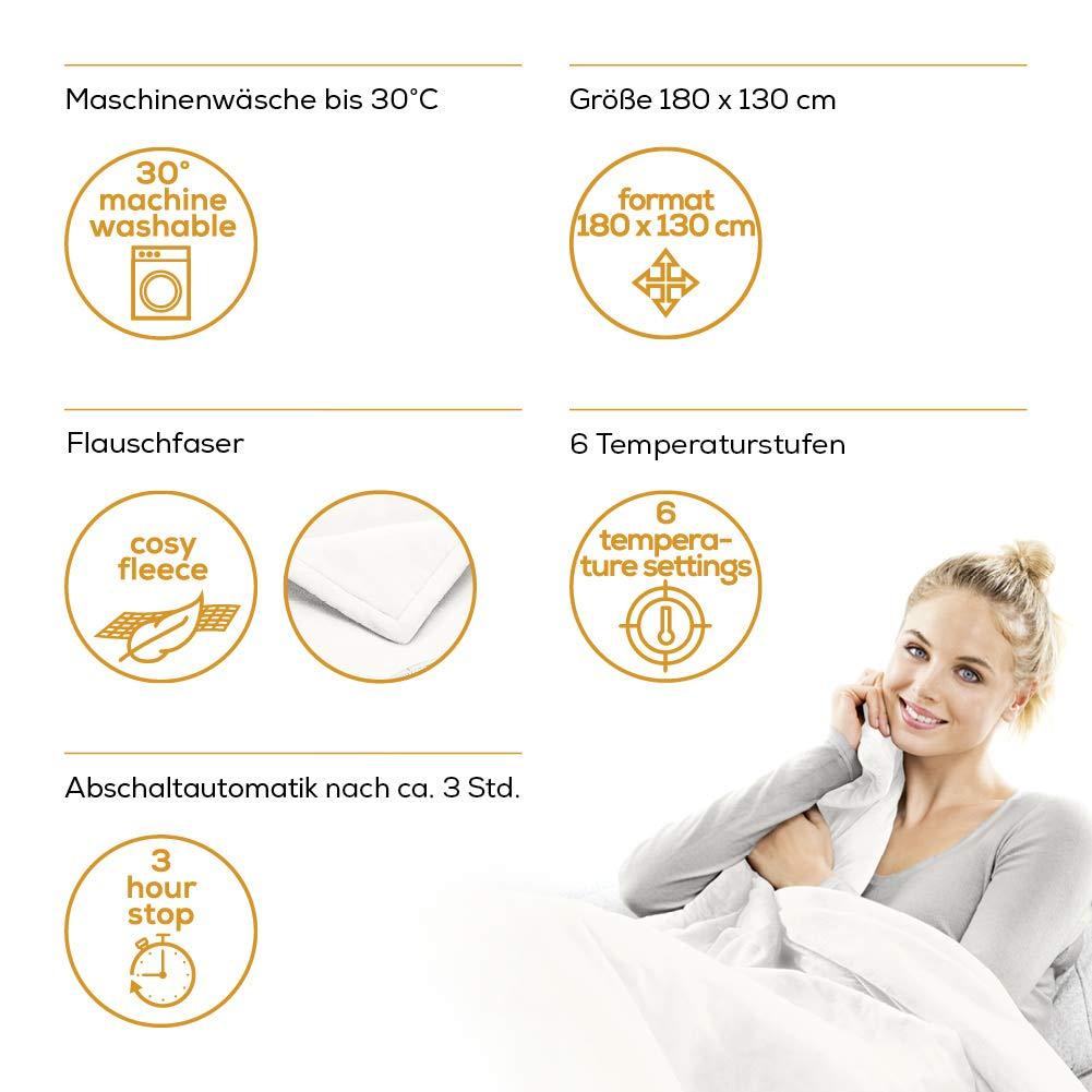 Beurer HD75 - Manta de tacto suave, color blanco: Amazon.es: Salud y cuidado personal