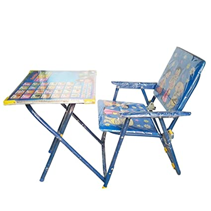 b22bc9448ee Buy Generic Combo of Chota Bheem Look Study Chair and Table with Doraemon  Teddy Bear (Blue) Online at Low Prices in India - Amazon.in