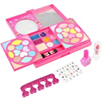 Baosity Pretend Makeup Toy for Girls Play Cosmetic Set Make Up Game for Kids & Gifts Eyeshadow, Lip-Gloss & Blusher with Mirror, Nail Polish, Lipstick Kit