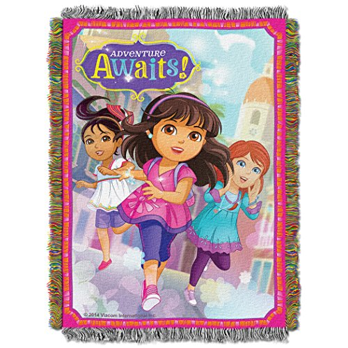 Dora & Friends, Adventure Awaits Woven Tapestry Throw Blanket, 48