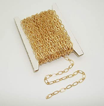 12mm Mother /& 6mm Son Link Gold Finish Brass Chain Sold by the Foot