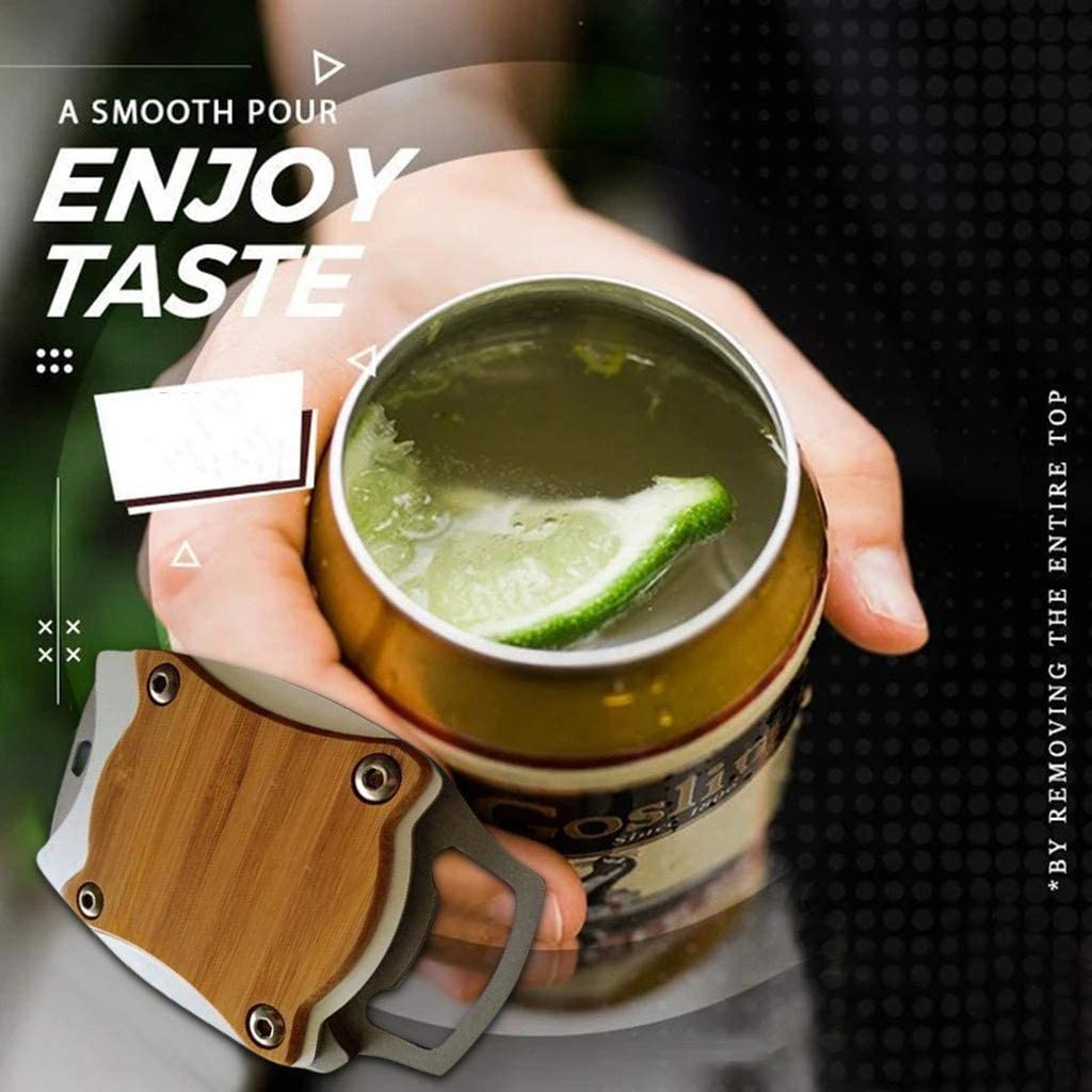 Reicety Go Swing Topless Can Opener Bar Tool Safety Easy Manual Can Opener Professional Effortless Openers Household Kitchen Tool Coffee, One Size