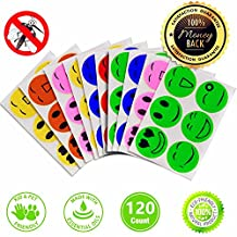 Mosquito Repellent Patches Stickers 120 Counts Natural Pure Essential Oil for Kids Children Adults Camping Travel Outdoors and Home (120)