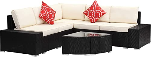 Patio Sofa Furniture Sets 6 Piece
