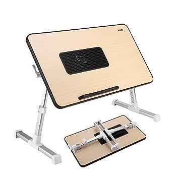 ICOCO Mesa para Ordenador Portátil de Plegable y Ajustable Mesa de Escritorio Portátil Soporte para Lectura de Niños (Con Ventilador de Refrigeración): ...