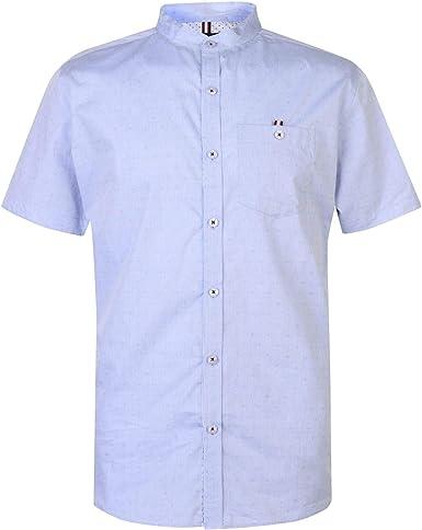 Kangol Grandad - Camisa de manga corta para hombre azul L ...