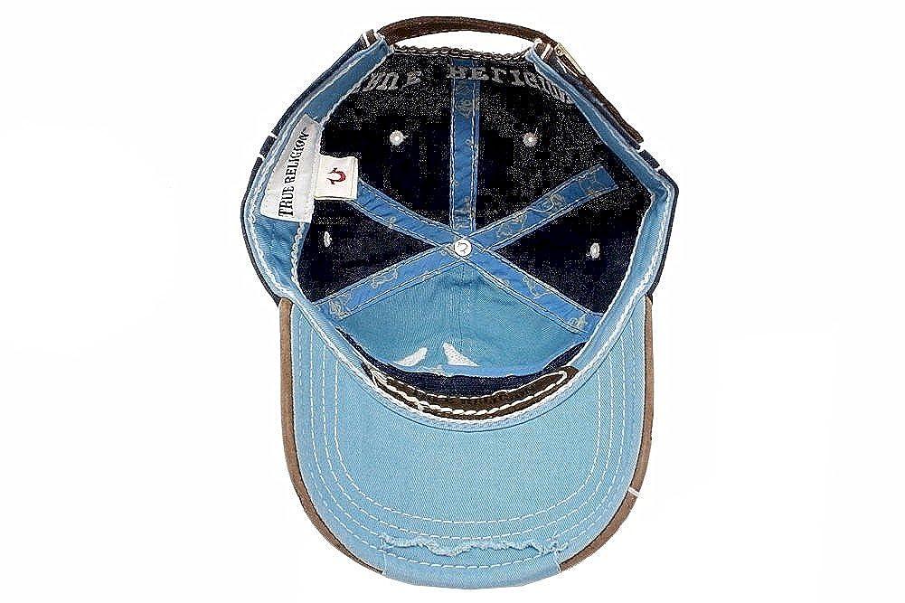 0caae5480a2 Amazon.com  True Religion New Big Buddha Distressed Army Trucker Hat Cap Tr 1101  (Dark Navy)  Clothing