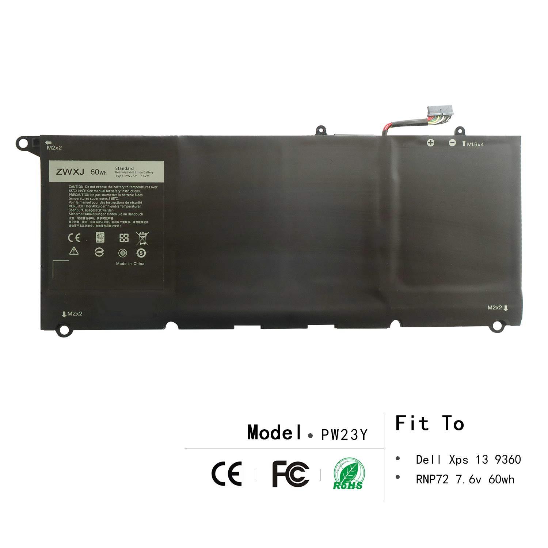 Bateria RNP72 PW23Y 7.6V 60WH Dell Xps 13 9360 XPS 13-9360-D