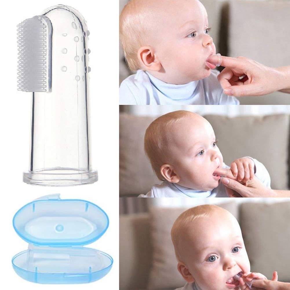 6 St/ück baby toothbrush mit Aufbewahrungsbox Baby Finger Zahnb/ürste-WENTS Zahnpflege Kindermundpflege und Zahnfleischmassage f/ür Babys