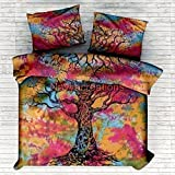 Vedant Designs Tree Of Life Indian Tie Dye Duvet Doona Cover Comforter Queen Quilt Cover Set Cotton Handmade By