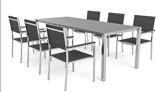 ARTELIA Mango L - Juego de mesa y sillas de jardín (acero inoxidable, para jardín, terraza, terraza): Amazon.es: Jardín