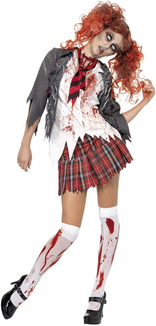 Horror-Shop Zombie Colegiala Disfraz XS: Amazon.es: Juguetes y juegos