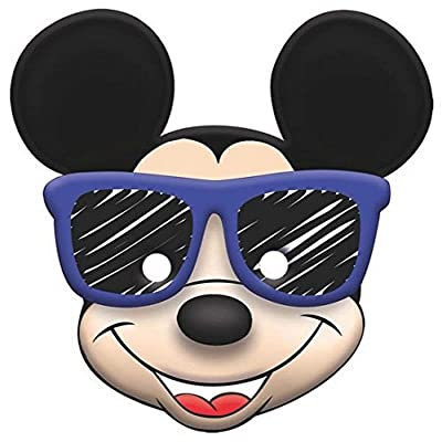 "Disney Mickey Mouse Birthday Party Vac Form Mask Accessory, Black/White , 6 1/4"" X 9 1/4"", Paper: Toys & Games"