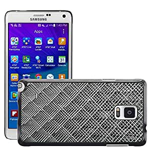 Hot Style Cell Phone PC Hard Case Cover // M00153317 Grid Wire Mesh Stainless Rods // Samsung Galaxy Note 4 IV