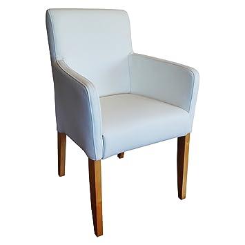 Stühle weiss leder  Weiße Lederstühle Echtleder Esszimmerstühle Massivholz Stühle ...